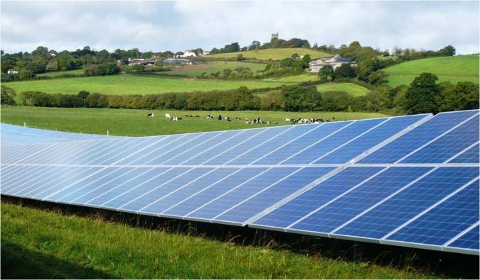 Projeto de energia solar em área rural